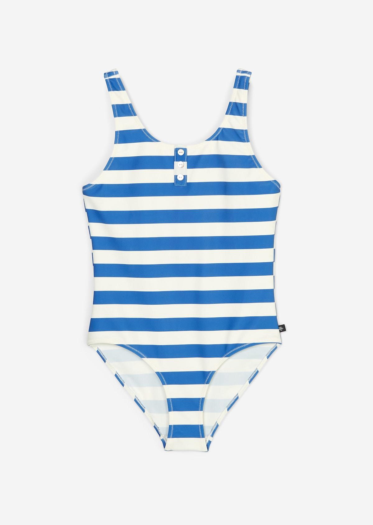 TecnoPro Mädchen Badeanzug Rolena 302336-050 in Schwarz-Blau-Pink