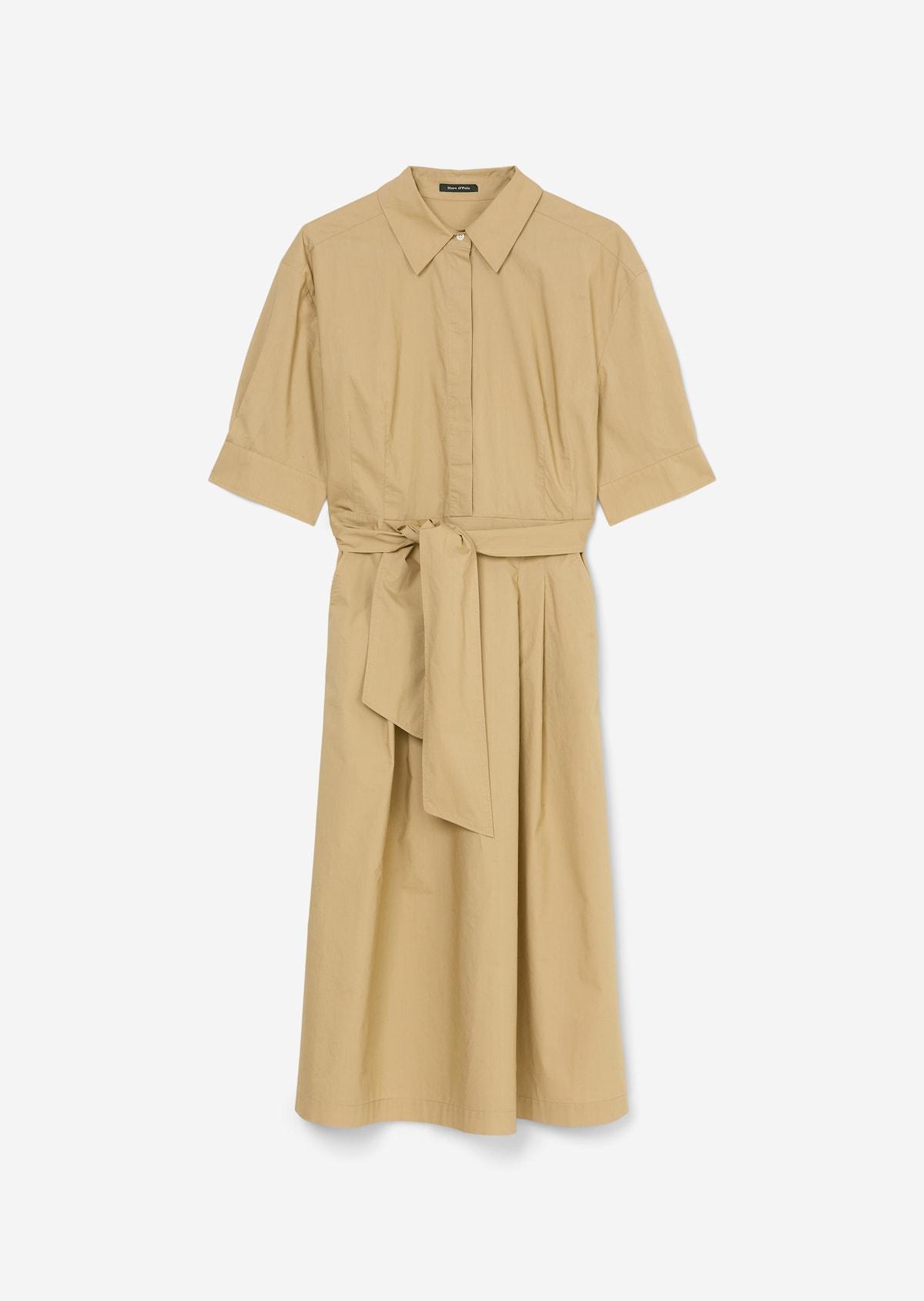 Blouse dress Made of cotton poplin   beige   Shirt dresses   MARC ...